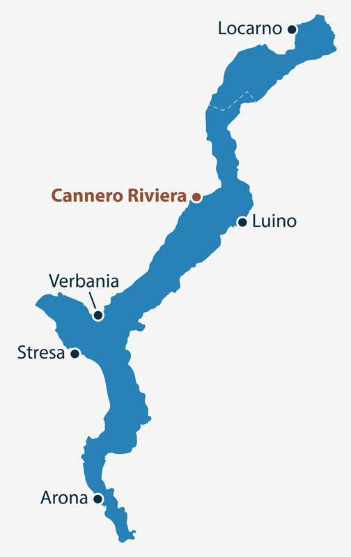 Villa Paradiso Cannero Riviera Location